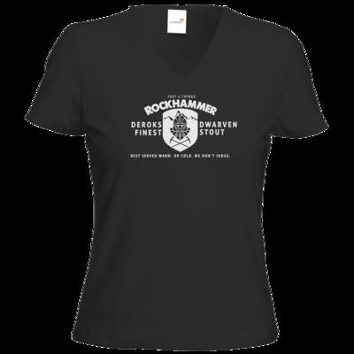 Motiv: T-Shirts Damen V-Neck FAIR WEAR - Rockhammer Stout