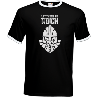 Motiv: T-Shirt Ringer - Be Rock - Vintage
