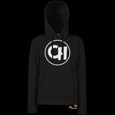 Motiv: Hoodie Damen Classic - Cheetah White Logo