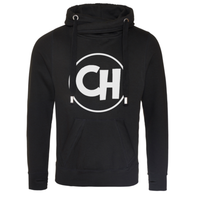 Motiv: Cross Neck Hoodie - Cheetah White Logo