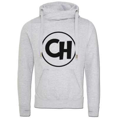 Motiv: Cross Neck Hoodie - Cheetah Black Logo