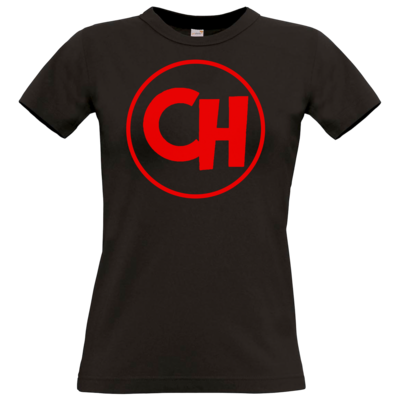 Motiv: T-Shirt Damen Premium FAIR WEAR - Cheetah Red Logo
