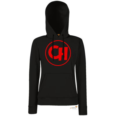 Motiv: Hoodie Damen Classic - Cheetah Red Logo
