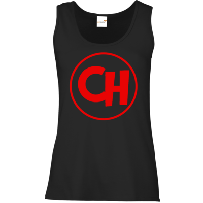 Motiv: Tank Top Damen Classic - Cheetah Red Logo