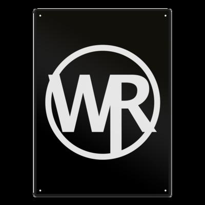 Motiv: Metallschild - WAGNER RECORDS LOGO WR weiss