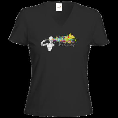 Motiv: T-Shirts Damen V-Neck FAIR WEAR - Veteran Community