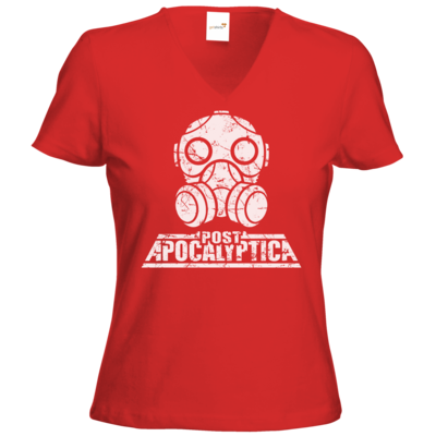 Motiv: T-Shirts Damen V-Neck FAIR WEAR - PostApo