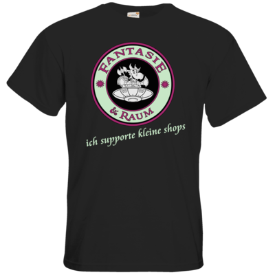 Motiv: T-Shirt Premium FAIR WEAR - ich supporte kleine Shops dunkel