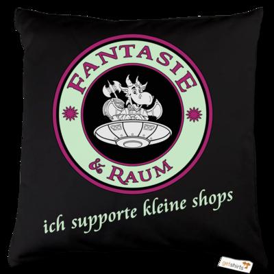 Motiv: Kissen Baumwolle - ich supporte kleine Shops dunkel
