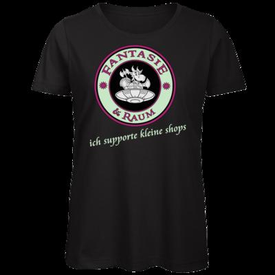 Motiv: Organic Lady T-Shirt - ich supporte kleine Shops dunkel