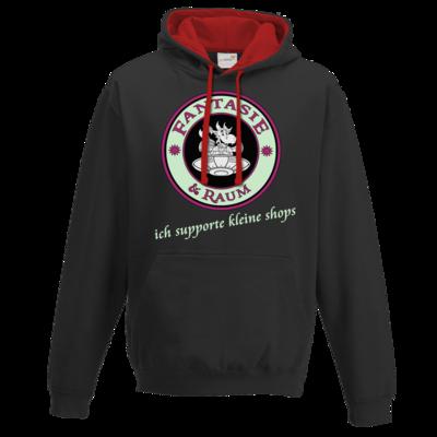 Motiv: Two-Tone Hoodie - ich supporte kleine Shops dunkel