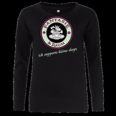 Motiv: Girlie Crew Sweatshirt - ich supporte kleine Shops dunkel