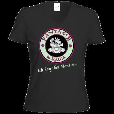 Motiv: T-Shirt Damen V-Neck Classic - Ich kauf bei Moni ein
