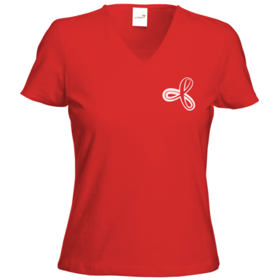 Motiv: T-Shirts Damen V-Neck FAIR WEAR - Elithera Schleife