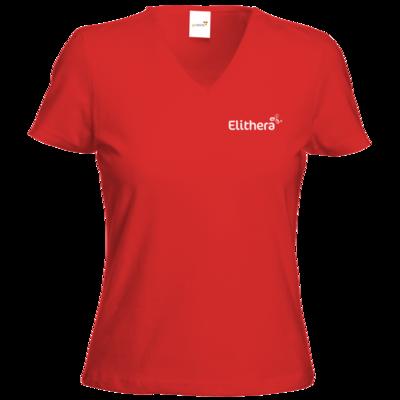 Motiv: T-Shirts Damen V-Neck FAIR WEAR - Elithera Logo