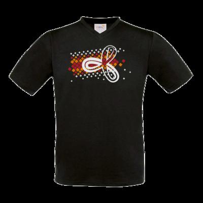 Motiv: T-Shirt V-Neck FAIR WEAR - Elithera Konfetti Schleife