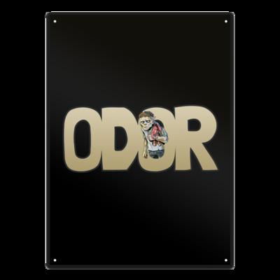 Motiv: Metallschild - Odor