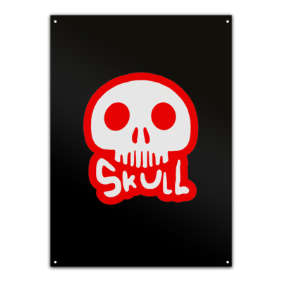 Motiv: Metallschild - Toms Shirt - Skull