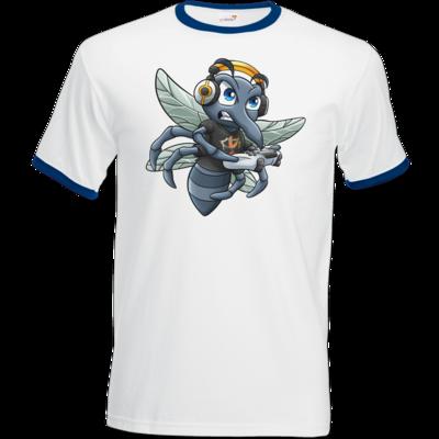 Motiv: T-Shirt Ringer - Moskito/Logo