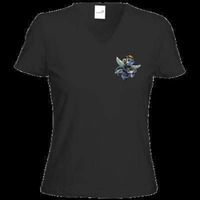 Motiv: T-Shirts Damen V-Neck FAIR WEAR - Moskito/Logo