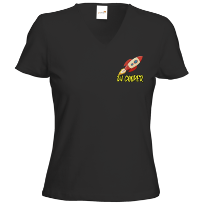 Motiv: T-Shirts Damen V-Neck FAIR WEAR - Rakete