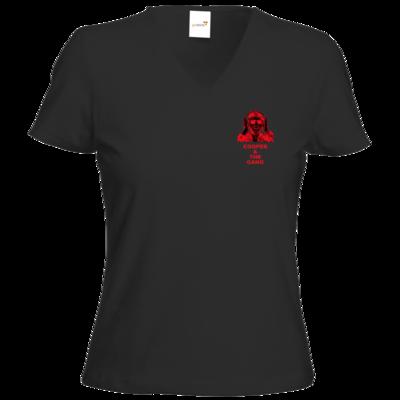 Motiv: T-Shirts Damen V-Neck FAIR WEAR - rot