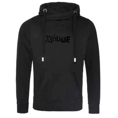 Motiv: Cross Neck Hoodie - Black XitusDE