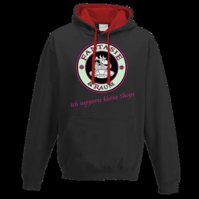 Motiv: Two-Tone Hoodie - ich supporte kleine Shops-hell