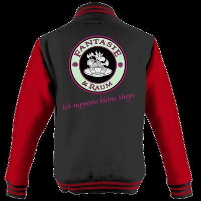 Motiv: College Jacke - ich supporte kleine Shops-hell