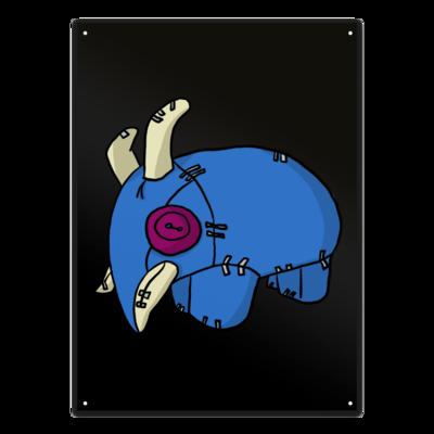 Motiv: Metallschild - Elekk Pluschie