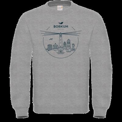 Motiv: Sweatshirt FAIR WEAR - Skyline Borkum (rund)