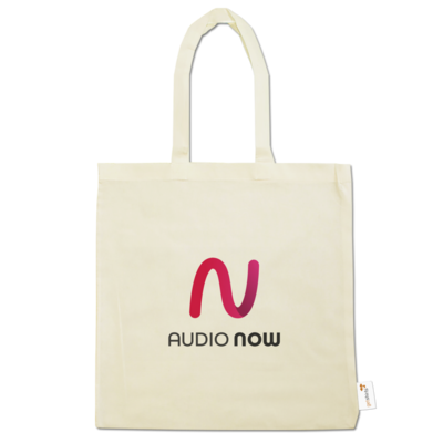 Motiv: Baumwolltasche - Logo_Audio Now
