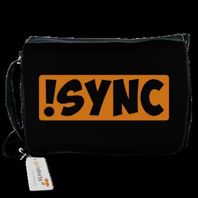 Motiv: Schultertasche - !sync orange