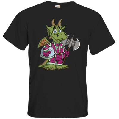 Motiv: T-Shirt Premium FAIR WEAR - Space-Dragon
