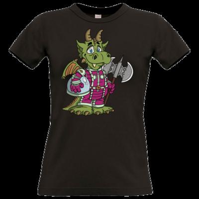 Motiv: T-Shirt Damen Premium FAIR WEAR - Space-Dragon