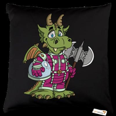 Motiv: Kissen Baumwolle - Space-Dragon