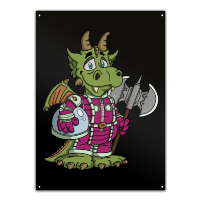 Motiv: Metallschild - Space-Dragon