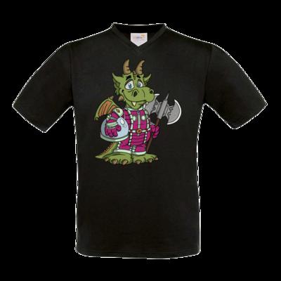 Motiv: T-Shirt V-Neck FAIR WEAR - Space-Dragon
