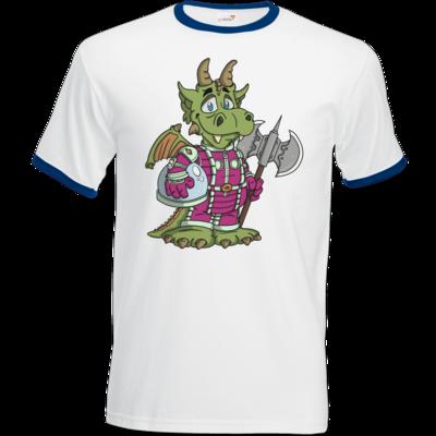 Motiv: T-Shirt Ringer - Space-Dragon