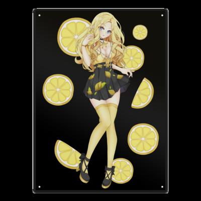 Motiv: Metallschild - Team Zitronen Eistee
