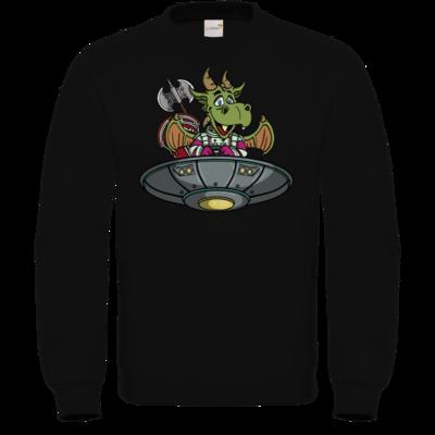 Motiv: Sweatshirt FAIR WEAR - Space Drache im UFO