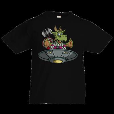 Motiv: Kids T-Shirt Premium FAIR WEAR - Space Drache im UFO