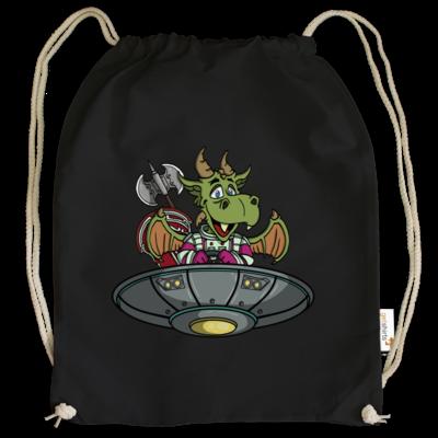 Motiv: Cotton Gymsac - Space Drache im UFO