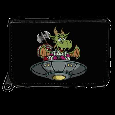 Motiv: Geldboerse - Space Drache im UFO