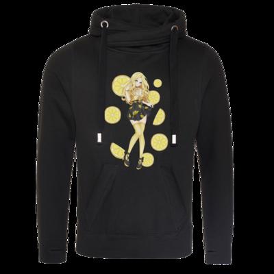 Motiv: Cross Neck Hoodie - Team Zitronen Eistee