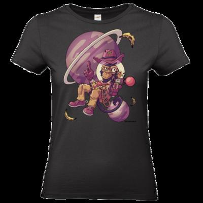 Motiv: T-Shirt Damen Premium FAIR WEAR - Space Monkey