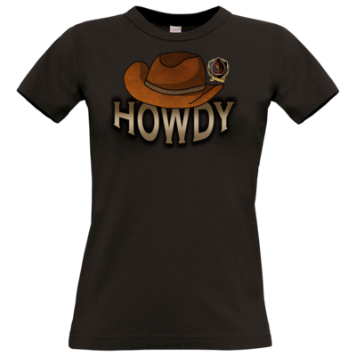 Motiv: T-Shirt Damen Premium FAIR WEAR - Howdy-Hut
