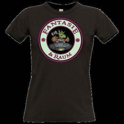 Motiv: T-Shirt Damen Premium FAIR WEAR - Logo in Farbe