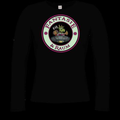 Motiv: Longsleeve Damen Organic - Logo in Farbe