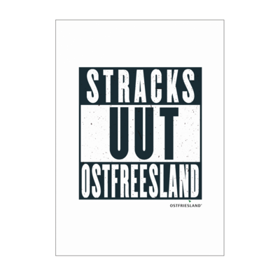 Motiv: Poster A1 - Stracks uut Ostfreesland